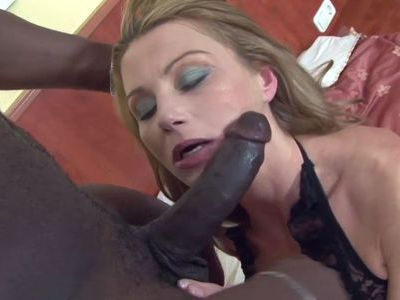 Mature blonde tries her first black dick