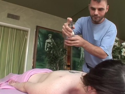 Tessa Lane Lets Him Ride on the Table