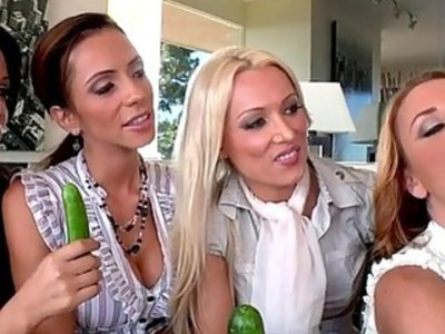 Hot horny ladies share a swollen cock