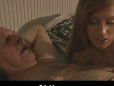 Grandpa sexblessed by hot Russian pussy