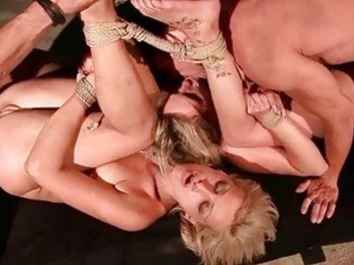 Two hot slave girls getting anal fucked