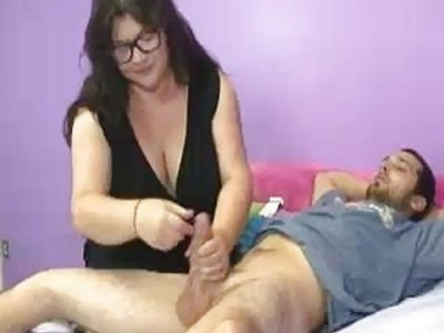 Milf Makes Room To Jerk Off The Young Cock