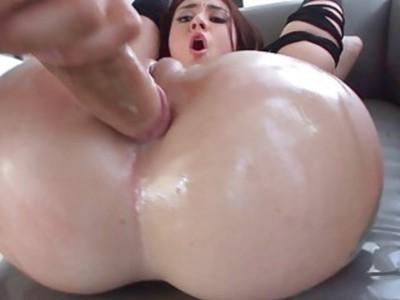 Mandy enjoys having cock in her ass