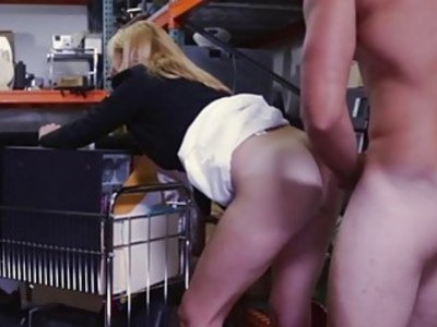 Hot blonde milf pounded by pawn keeper