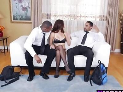 Eva Long is mezmerized by these huge black dicks