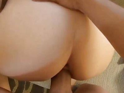 Lovely chick is hunk with stimulating wang riding