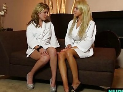 Stunning Sasha Heart and her friend Alix Lynx in amazing lesbian adventure