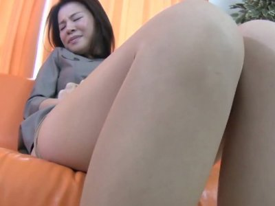 Nasty Asian whore Yoko Kido teases her pussy through her panties