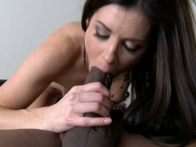 The mouth of torrid brunette India Summer is just perfect for plugging a cock