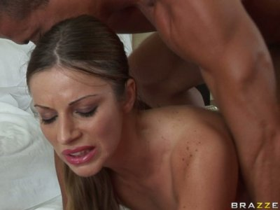 Beautiful milf Debbie White bends over for anal pounding
