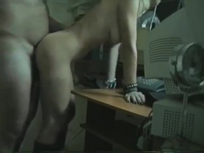 Couple Have Sex At The Office