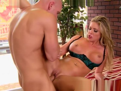 Big TITS in uniform - Samantha Saint Johnny Sins - Cup of Ho