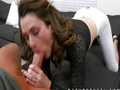 Mature babe eats up a cock expertly