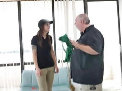 Coffee attendant gave birthday Roger a lap dance