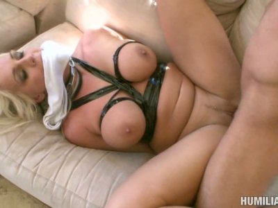 Tied up Sadie Swede gets dirty ruthless fucked