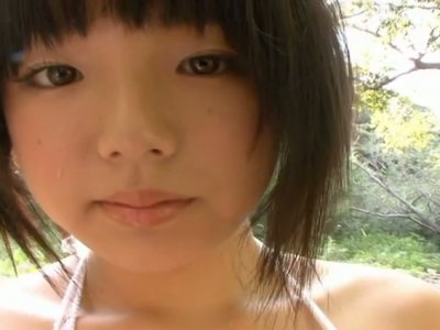Busty brunette cutie Ai Shinozaki in the forbidden garden