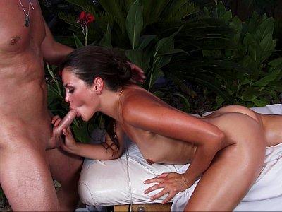Allie Haze enjoying massage