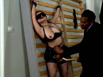 Dirty slut freaks out of rough sex games with BDSM elements