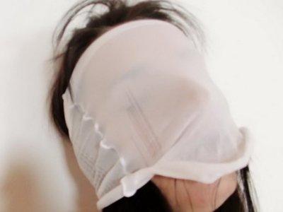 Thin Promesita nylons fetish mask
