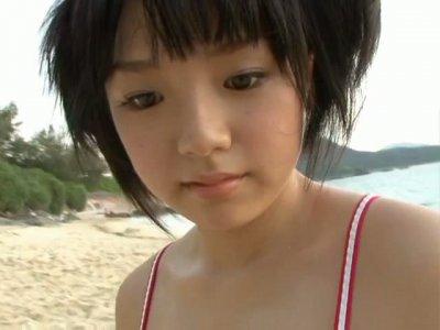 Buxom lovely girlie from Japan loves demonstrating her big boobs