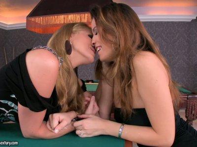 Voluptuous Caucasian hoes Katalin and Peaches having fun
