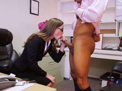 Very horny boss blows and fuck her employee