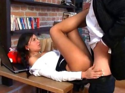 Lewd mature teacher bonks naughty babe senseless