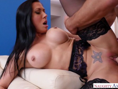 Cali Carter gets fucked in her new pantyhose