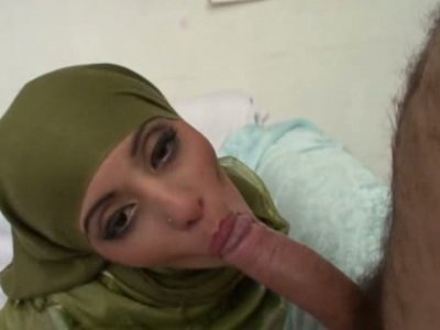 All natural Pakistani slut sucks cock and rides it for some cash