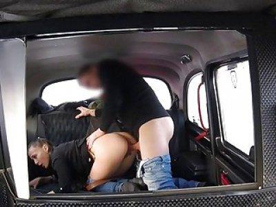 Pervert driver fucks babe for cab fare