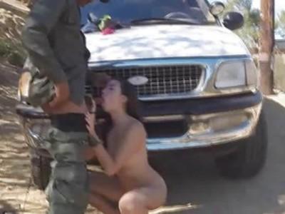 Frida got fucked with agents big black cock