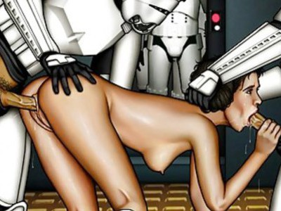 Star Wars cartoon porn parody