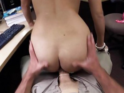 Coed sells her books and fucked for cash