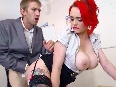 Horny Dean Jasmine James has professor Danny D fuck her pussy
