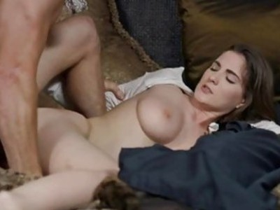 Big natural tits Molly Jane screwed hard