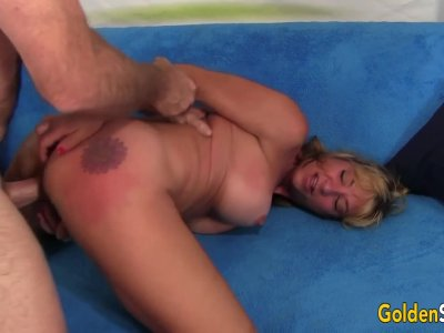 Sexy Mature Blonde Sky Haven Spreads Her Legs for a Hard Cock