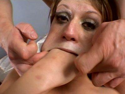 Disgraceful slut Tyla Wynn gets screwed in threesome