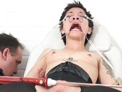 Medical fetish of asian Mei Mara in extreme bizarr