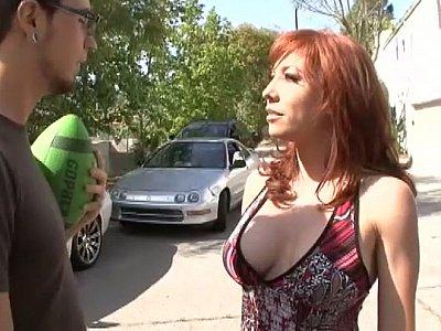 Redhead step-mom gets fucked
