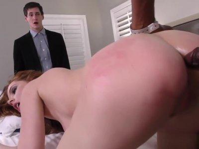 Anal Slut Pepper Hart BBC Gangbanged In Front Of Cuckold