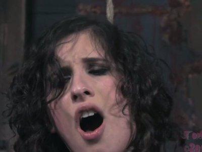 Brunette hoochie Marina is punished by cruel lesbian mistress