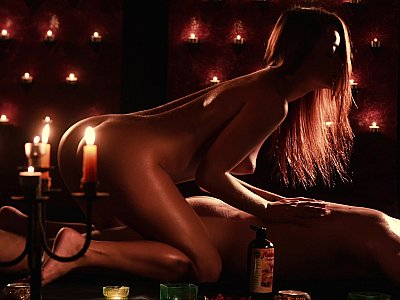Eroticism of darkness and candlelight