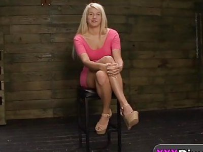 Tied Blonde Babe Layla Takes Cock From Behind