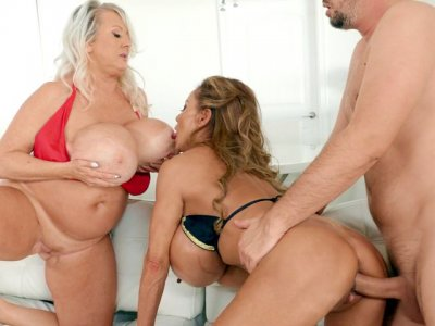 Minka and Kayla Kleevage get fucked by Keiran Lee