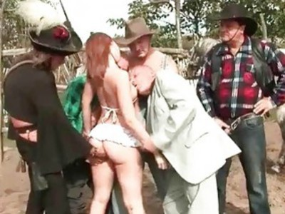 Extreme outdoor group sex movie