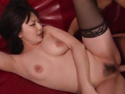 Megumi Haruka moans hard during nasty oral show