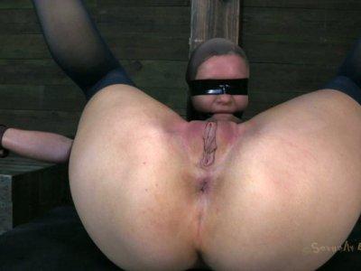 Provocative Hazel Hypnotic getting her tits pumped