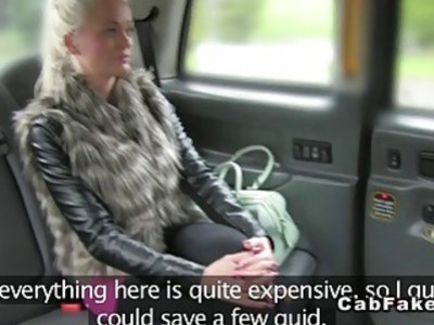 Busty Finnish blonde bangs in taxi anal reality