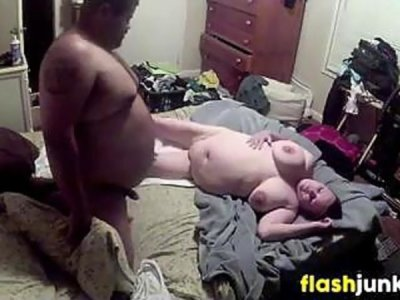 Fat Couple Spied On While Fucking