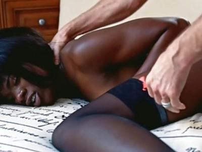 Horny ebony Ana Foxxx fucked real deep